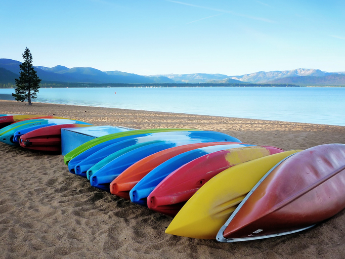 Lake Tahoe, CA canoes