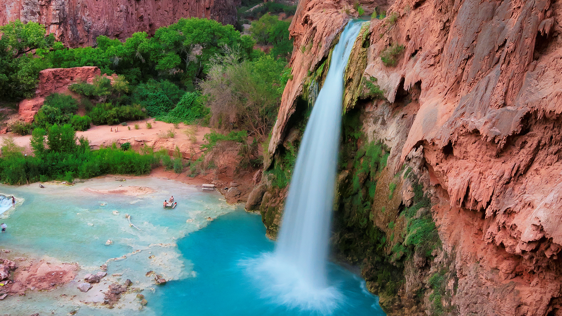 Peaceful day at Havasu Falls