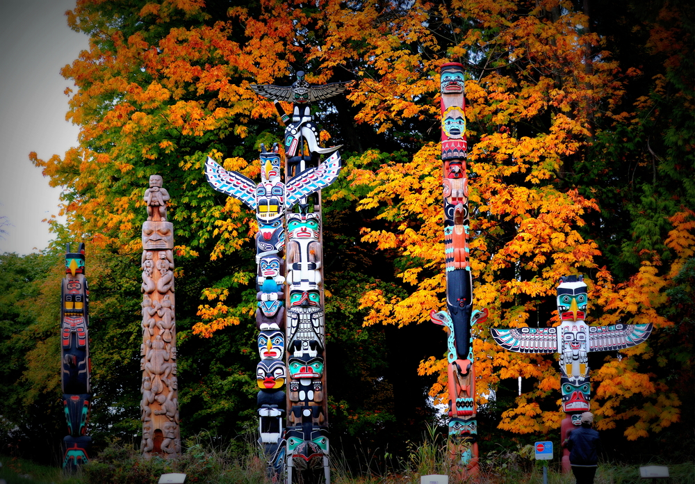 Totem poles at Stanley Park, Vancouver